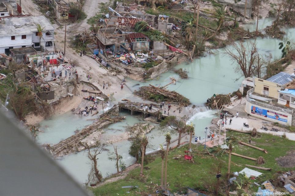 Medair vient en aide aux victimes de l'ouragan Matthew, qui a ravagé le sud-ouest d'Haïti