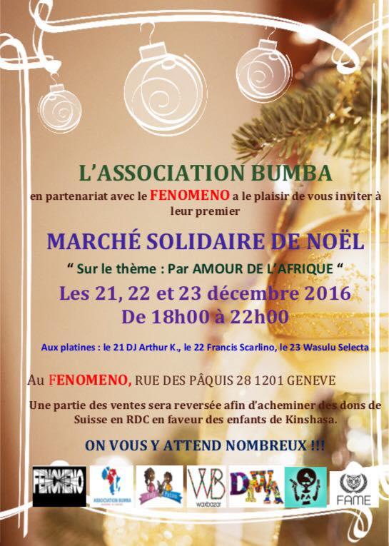 Genève: marché solidaire de Noël