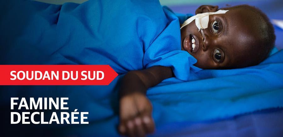 Soudan du Sud: un million de personnes risquent la famine !