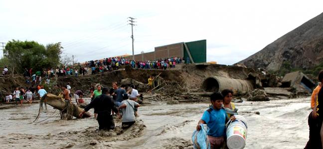 Aide d'urgence pour le Pérou inondé