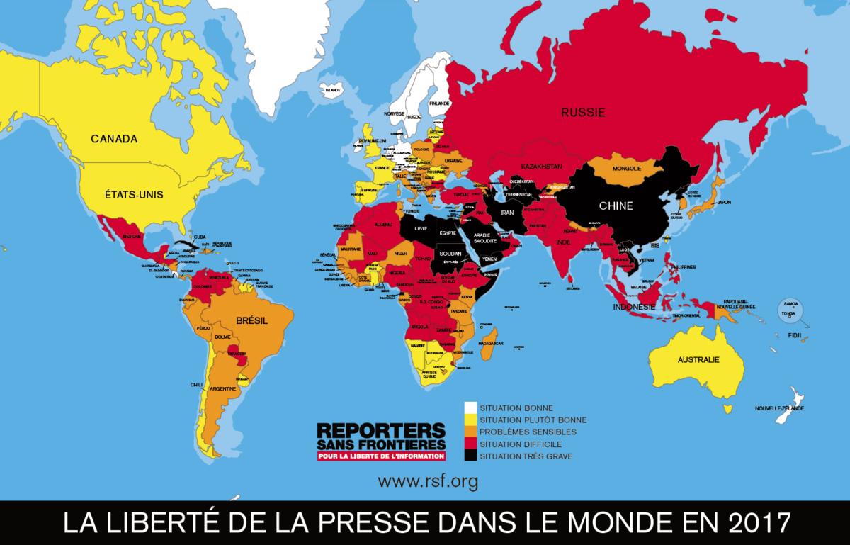 Classement mondial de la liberté de la presse 2017 : le grand basculement ?