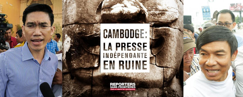 RSF publie un rapport sur les attaques contre la presse libre au Cambodge