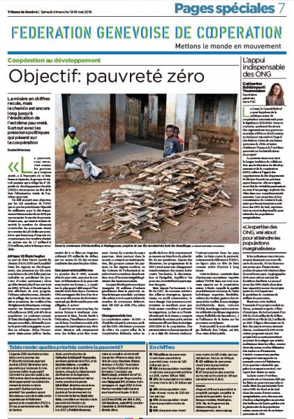 Objectif: pauvreté zéro, nos pages spéciales avec la «Tribune de Genève»