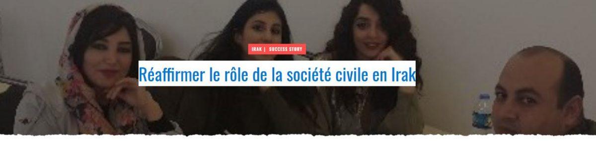 Réaffirmer le rôle de la société civile en Irak
