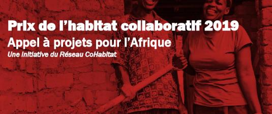 Prix de l'Habitat Collaboratif pour l'Afrique 2019