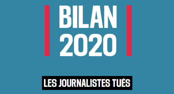 50 journalistes tués en 2020, dont plus des deux tiers dans des pays en paix