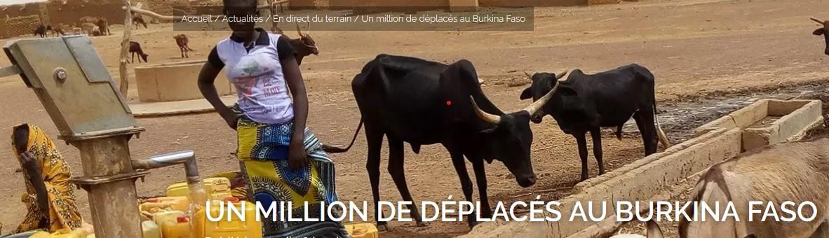 Un million de déplacés au Burkina Faso