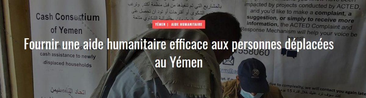 Fournir une aide humanitaire efficace aux personnes déplacées au Yémen